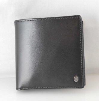 (6286) 【カルティエ】 カルティエ パシャ レザー ブラック 二つ折り財布 メンズ L3000137 [財布]