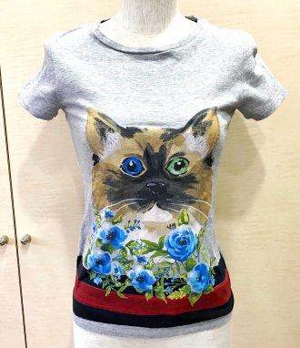 (6369) 【その他】 グッチ Tシャツ グレー 猫 [服(レディース)]