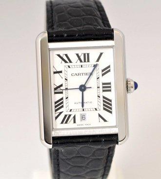 (6463) 【カルティエ】 カルティエ タンクソロ SS オートマ 自動巻き メンズ XL  [時計(メンズ)]
