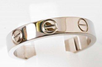 (6959) 【カルティエ】 カルティエ Cartier 750WG ホワイトゴールド ミニラブリング 50号 レディース [ブランドジュエリー]