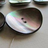 黒蝶貝大きな美しい変形ボタン