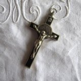アンティーク聖ベネディクト十字架トップ