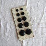 ブラックガラスボタン2種10個サンプル