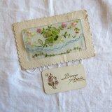 四葉のクローバー刺繍