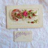薔薇とホーズシューズ刺繍