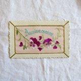 ヴィオレットパンジー刺繍