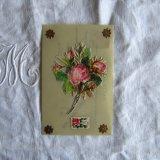セルロイド薔薇の花束ポストカード