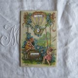 天使と勿忘草のカレンダーカード