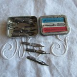 古いペン先ティン缶36本/未使用品