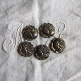 ヴィンテージ装飾パーツ薔薇5個シルバー