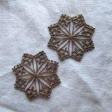 アンティーク百合アイリス透柄の装飾2個組
