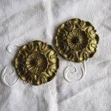 アンティーク真鍮製インテリア装飾パーツ2個