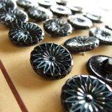 アンティーク/ガラスボタン17ミリ8個お花カット