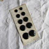 ヴィンテージブラックガラスボタン2種10個サンプル