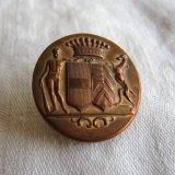 フランスアンティーク真鍮メタルボタン王冠紋章28ミリ