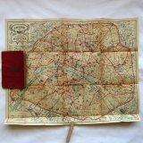 アンティークrue de parisパリの古地図