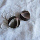 厚い茶蝶貝ボタン2個31ミリ