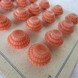 ピンクオレンジ釦24個16ミリ/シート付