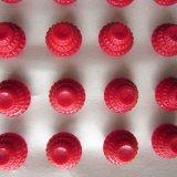 赤ボタン24個13ミリ/シート付
