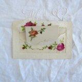 刺繍ポストカード薔薇カード付