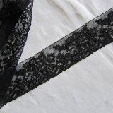 フランスアンティーク/ブラックレース刺繍260cm