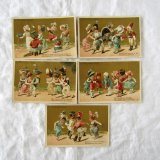 クロモスカード5枚 可愛い兵隊さんとダンス