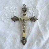 十字架マザーオブパール銀製/白蝶貝