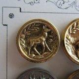 メタルボタン牝鹿バンビ22ミリ狩猟ハンター