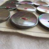 アンティーク黒蝶貝ボタン12個22ミリ