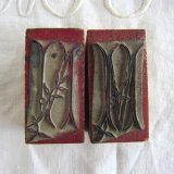 刺繍用モノグラム2個スタンプMN