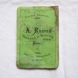 ミニ刺繍図案集アルファベット1867年