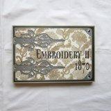 レース図録EMBROIDERY�1870年アート大判