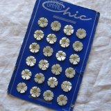 花カット貝ボタン17ミリ12個