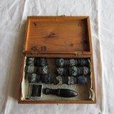 刺繍用ローラースタンプ花柄スカラップ木箱入
