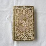 1851年ピンクと金彩/花模様の古書