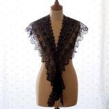 黒ボビンレース衿ショールカラー