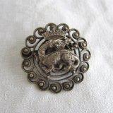 ブローチ王紋章フランソワ一世サラマンダー