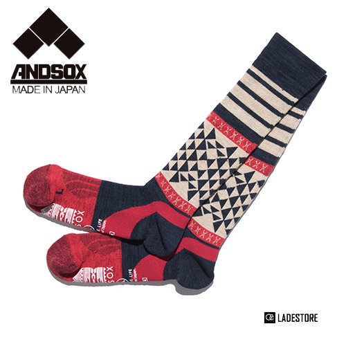■ANDSOX■ Support Pile Long / Native Navy