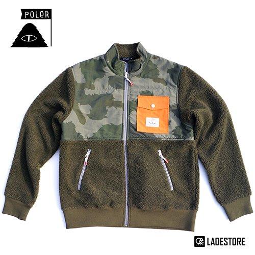 ■POLeR OUTDOOR STUFF ■ Men's Half Fleece Jacket / Olive