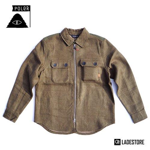 ■POLeR OUTDOOR STUFF ■ Men's The Gomer Woven Jacket / Olive
