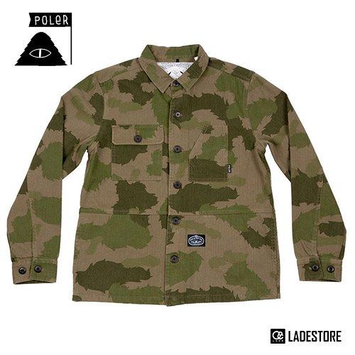 ■POLeR OUTDOOR STUFF ■ Men's The Buck Woven Jacket / Green Furry Camo