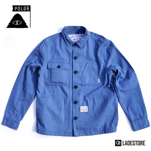 ■POLeR OUTDOOR STUFF ■ Men's The Buck Woven Jacket / Blue