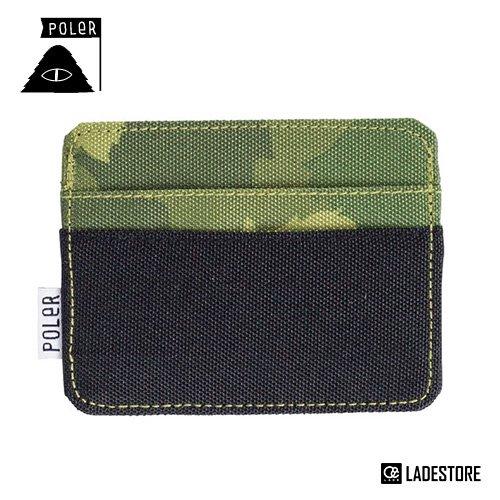 ■POLeR OUTDOOR STUFF ■ Card Holder / Green Furry Camo