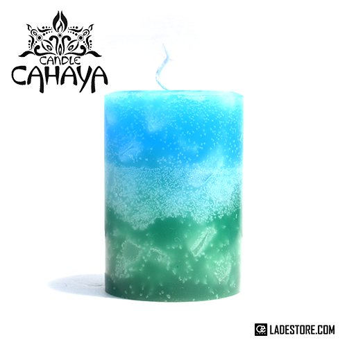 ■candle CAHAYA■ Gradation Large Candle / Blue-Turquoise-Emerald Green