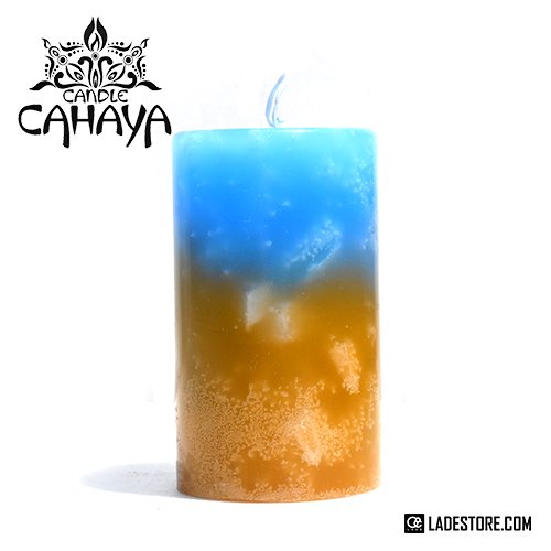 ■candle CAHAYA■ Gradation Medium Candle / Blue-Amber