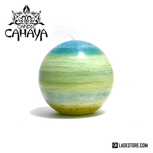 ■candle CAHAYA■ Gradation Planet Candle / Green Gradation