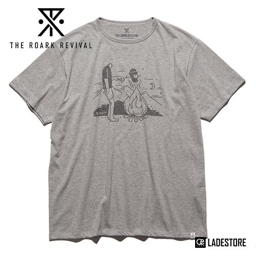 "■Roark Revival■ ""FRIED"" TEE / HEATHER GREY"