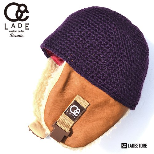■LADE COLOR CUSTOM BEANIES■ Hog - Sheep Boa