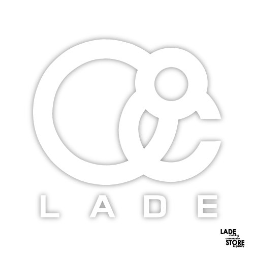 ■LADE■ Logo Icon Sticker Small