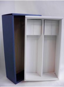 ★お酒と一緒にご注文してください♪★【ギフト箱】高級フタ式ギフト箱(紺色) 720・900ml 2本入れ